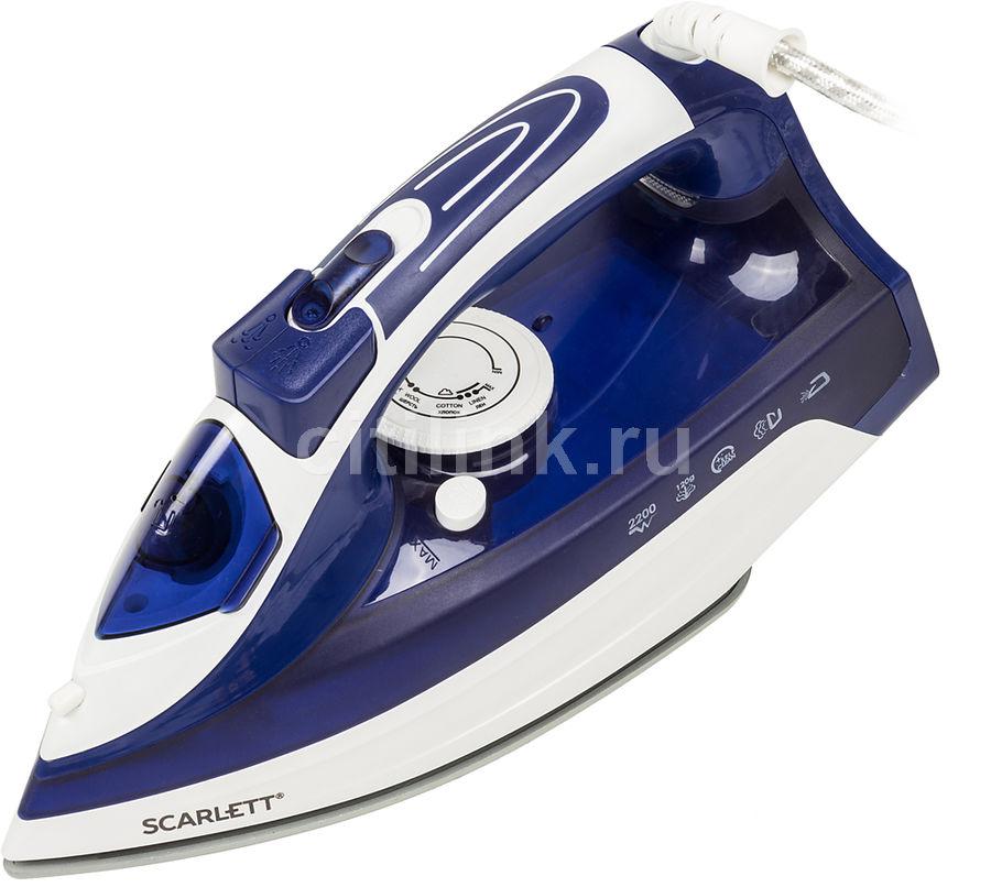 Утюг SCARLETT SC-SI30K22,  2200Вт,  белый/ синий [sc - si30k22]