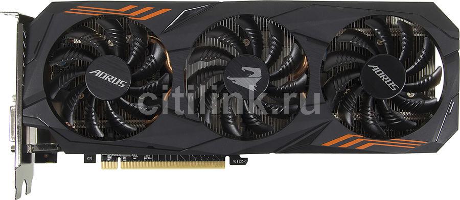 Видеокарта GIGABYTE nVidia  GeForce GTX 1060 ,  GV-N1060AORUS-6GD,  6Гб, GDDR5, OC,  Ret