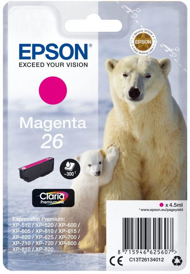Картридж EPSON T2613 пурпурный [c13t26134012]