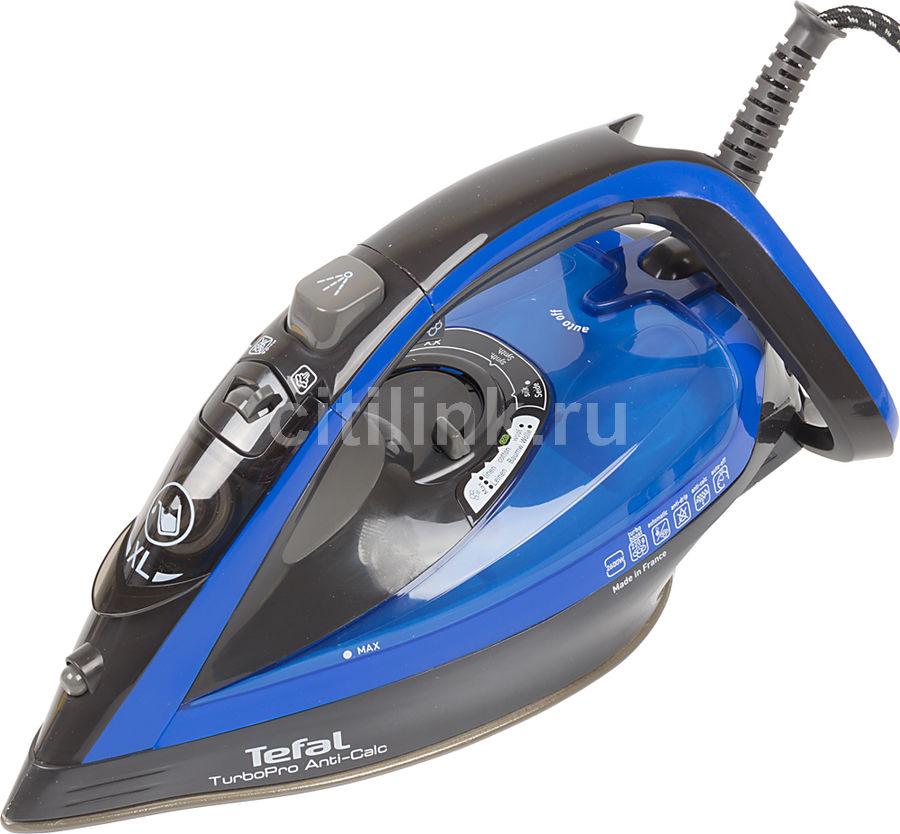 Утюг TEFAL FV5648E0,  2600Вт,  черный/ синий [1830006356]