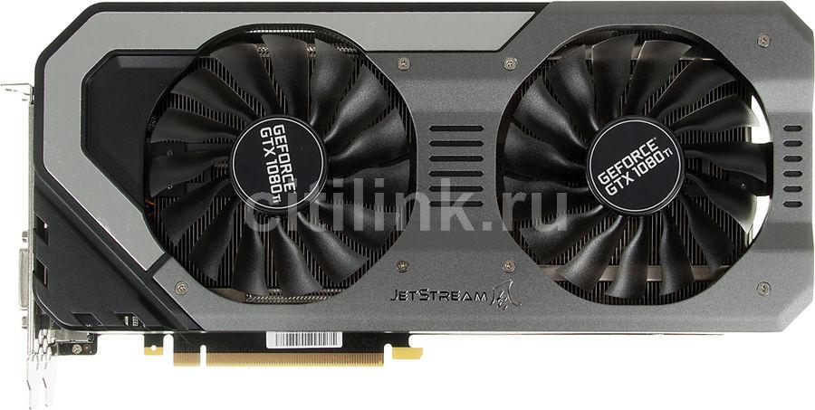 Видеокарта PALIT GeForce GTX 1080Ti,  PA-GTX1080TI Jetstream 11G,  11Гб, GDDR5X, Ret [neb108t015lc-1020j]