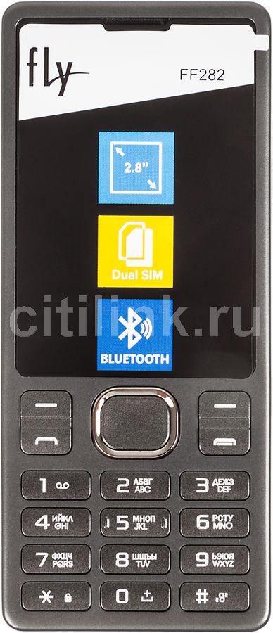 """Мобильный телефон Fly FF282 32Mb черный 2Sim 2.8"""" TN 240x320 Nuc 0.3Mpix(Б/У)"""