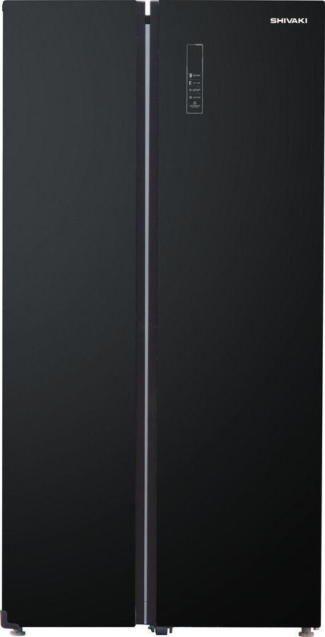 Холодильник SHIVAKI SBS-550DNFBGl,  двухкамерный,  черный
