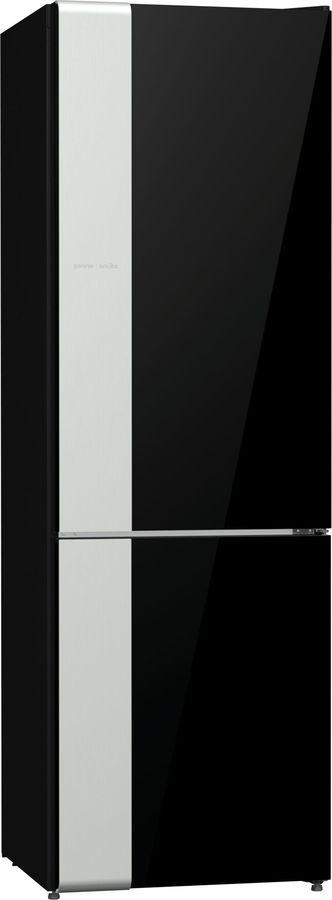 Холодильник GORENJE NRK612ORAB,  двухкамерный, черный/серебристый