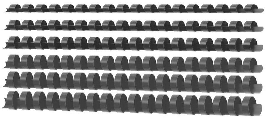 Пружина пластиковая DELI E3836,  12мм,  80 листов,  A4,  100,  ассорти