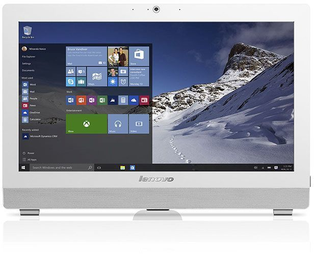 "Моноблок LENOVO S200z, 19.5"", Intel Pentium J3710, 4Гб, 500Гб, Intel HD Graphics 405, DVD-RW, Windows 10, белый [10k50025ru]"
