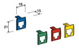 Вставка Corning (7000078623) шир.18мм выс.21мм зеленый (упак.:8шт)