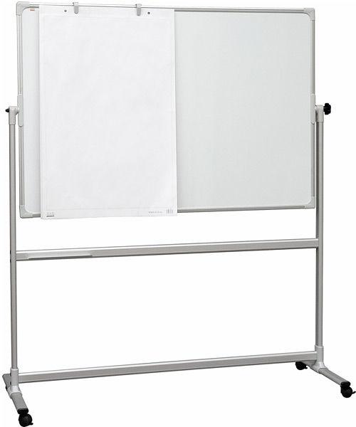 Демонстрационная доска 2X3 Pivoting board TOS1510 магнитно-маркерная лак 100x150см на роликах поворо