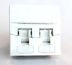 Вставка Corning (7000079332) прямая 45x45 2xKeystone ПВХ белый