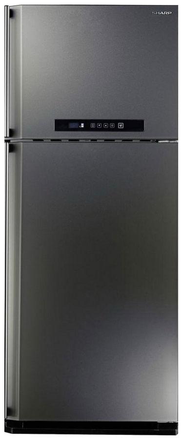 Холодильник SHARP SJ-PC58AST,  двухкамерный,  нержавеющая сталь
