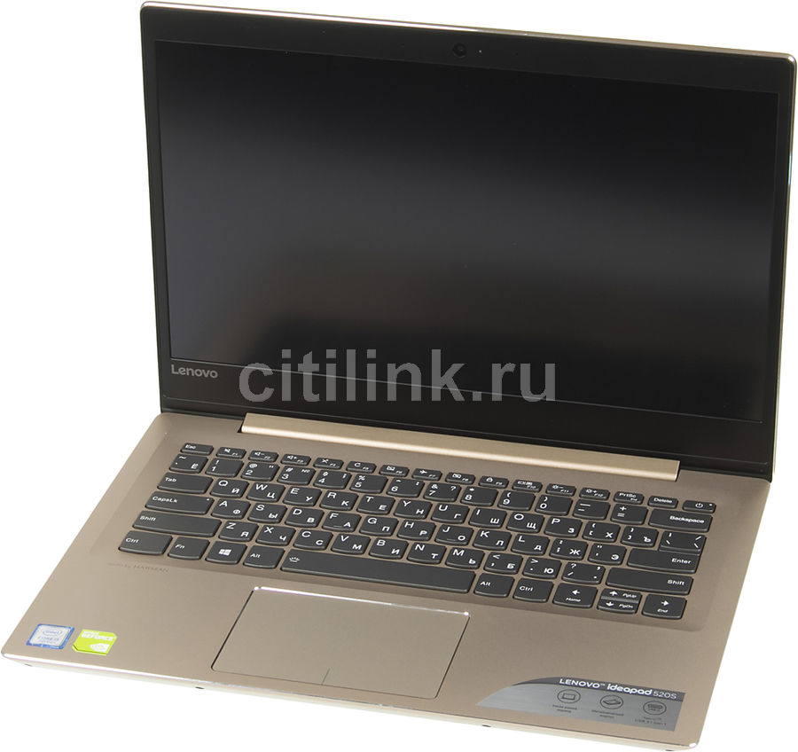 Ноутбук LENOVO IdeaPad 520S-14IKB, 14, Intel Core i5 7200U 2.5ГГц, 8Гб, 256Гб SSD, nVidia GeForce GF 940MX - 2048 Мб, Windows 10, золотистый [80x2000vrk] ноутбук lenovo ideapad 310 15isk 15 6 intel core i3 6006u 2ггц 6гб 1000гб nvidia geforce 920m 2048 мб windows 10 белый [80sm01rmrk]
