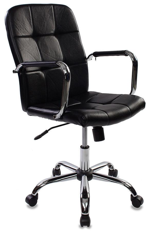 Кресло руководителя БЮРОКРАТ CH-909, на колесиках, искусственная кожа, черный [ch-909-low/black]