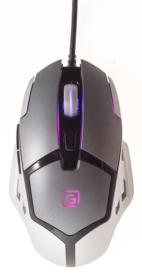 Мышь OKLICK 915G UNIVERSE оптическая проводная USB, черный и серебристый