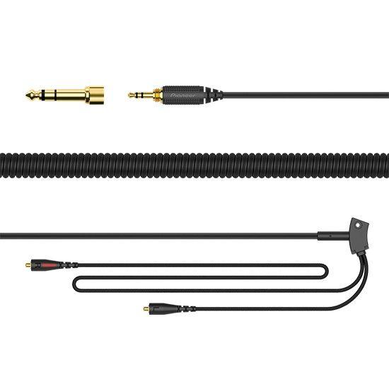 Кабель соединительный для наушников PIONEER HC-CA0201,  Jack 3.5 (f)  -  Jack 6.3 (f) ,  1.2м, GOLD черный