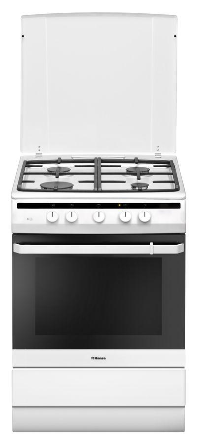 Газовая плита HANSA FCGW64022,  газовая духовка,  белый