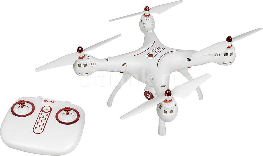 Квадрокоптер SYMA X8SW с камерой,  белый