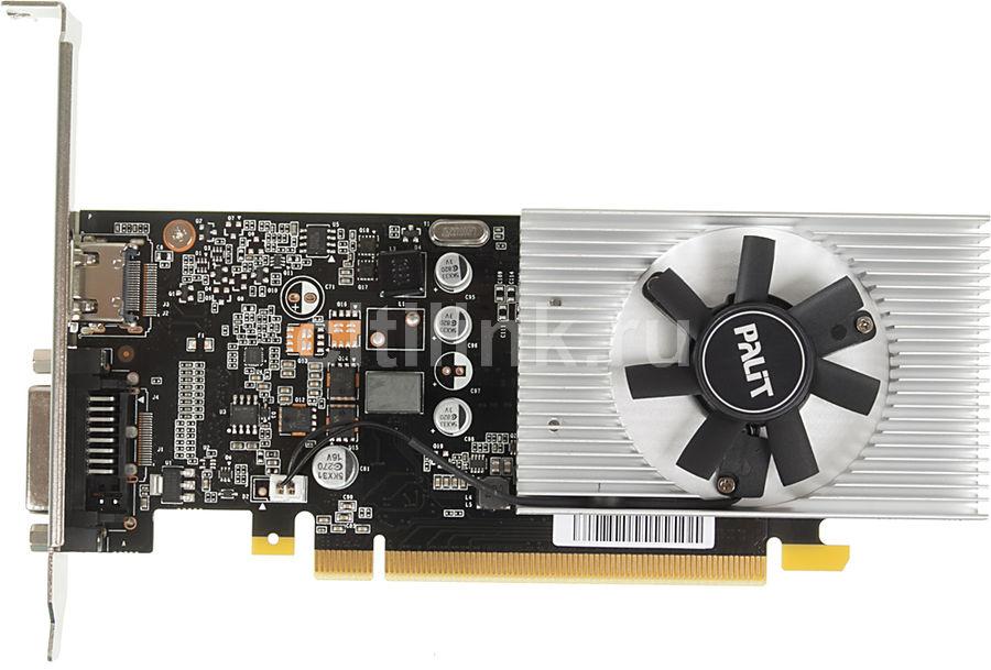Видеокарта PALIT nVidia  GeForce GT 1030 ,  PA-GT1030 2GD5,  2Гб, DDR5, Low Profile,  OC,  Ret [ne5103000646-1080f]