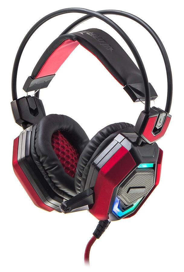Наушники с микрофоном OKLICK HS-L900G HURRICANE,  мониторы, черный