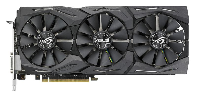 Видеокарта ASUS nVidia  GeForce GTX 1080Ti ,  ROG-STRIX-GTX1080TI-O11G-GAMING,  11Гб, GDDR5X, OC,  Ret
