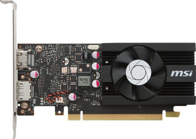 Видеокарта MSI nVidia  GeForce GT 1030 ,  GT 1030 2G LP OC,  2Гб, GDDR5, Low Profile,  OC,  Ret
