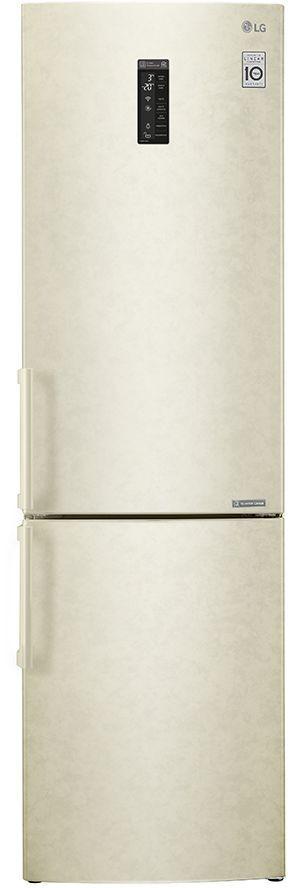 Холодильник LG GA-B499YEQZ,  двухкамерный, бежевый