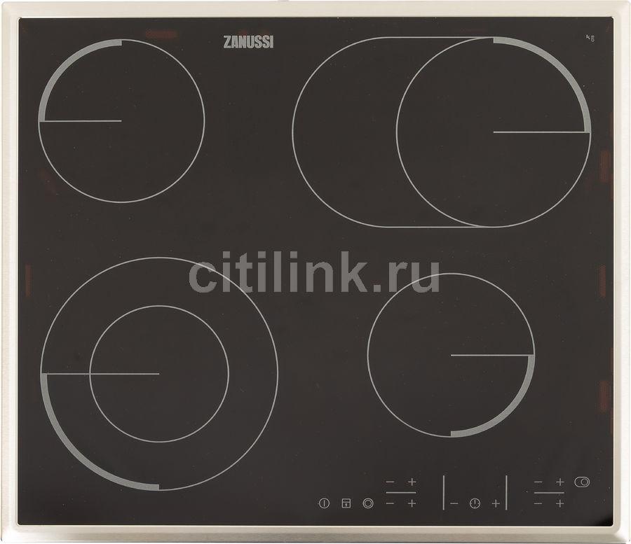 Варочная панель ZANUSSI CPZ6466KX,  электрическая,  независимая,  черный