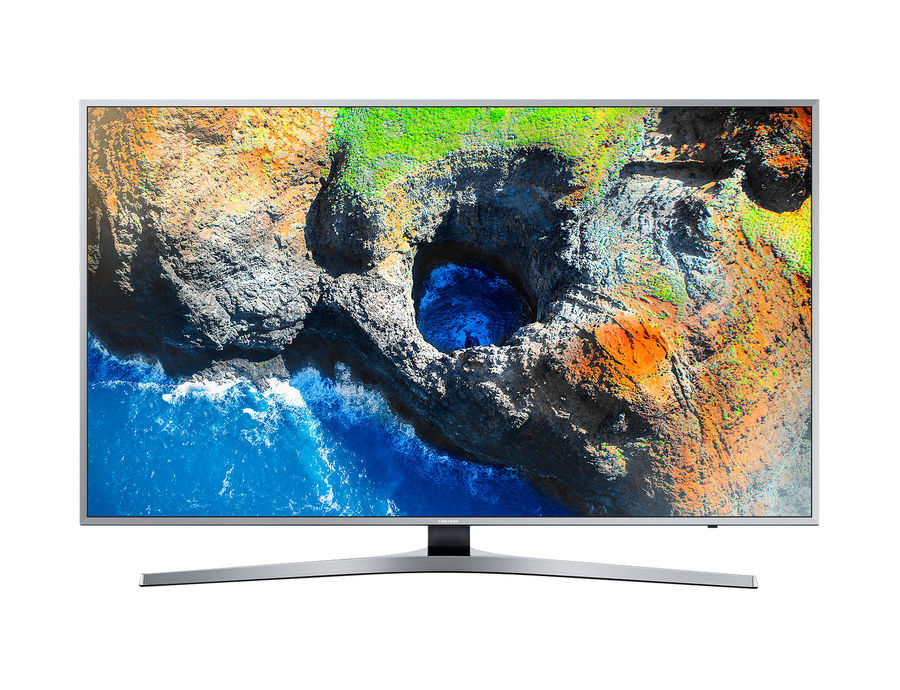 "LED телевизор SAMSUNG UE55MU6400UXRU  ""R"", 55"", Ultra HD 4K (2160p),  серебристый"