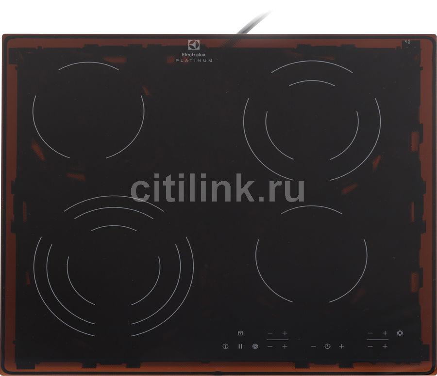 Варочная панель ELECTROLUX CPE6433KF,  электрическая,  независимая,  черный