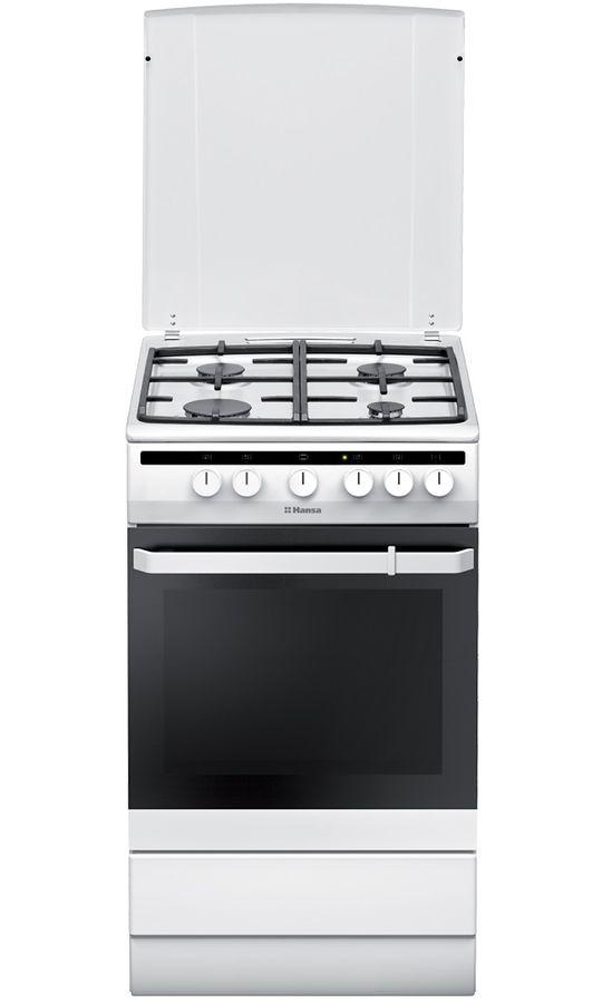 Газовая плита HANSA FCGW53150,  газовая духовка,  белый