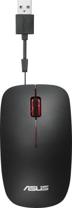 Мышь ASUS UT300, оптическая, проводная, USB, черный [90xb0460-bmu000]