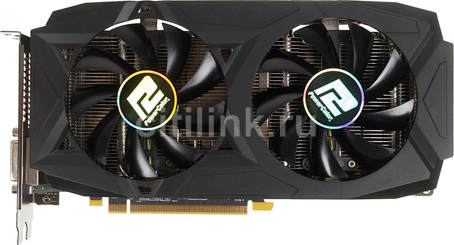 Видеокарта POWERCOLOR Radeon RX 580,  AXRX 580 4GBD5-3DHDV2/OC,  4Гб, GDDR5, OC,  Ret