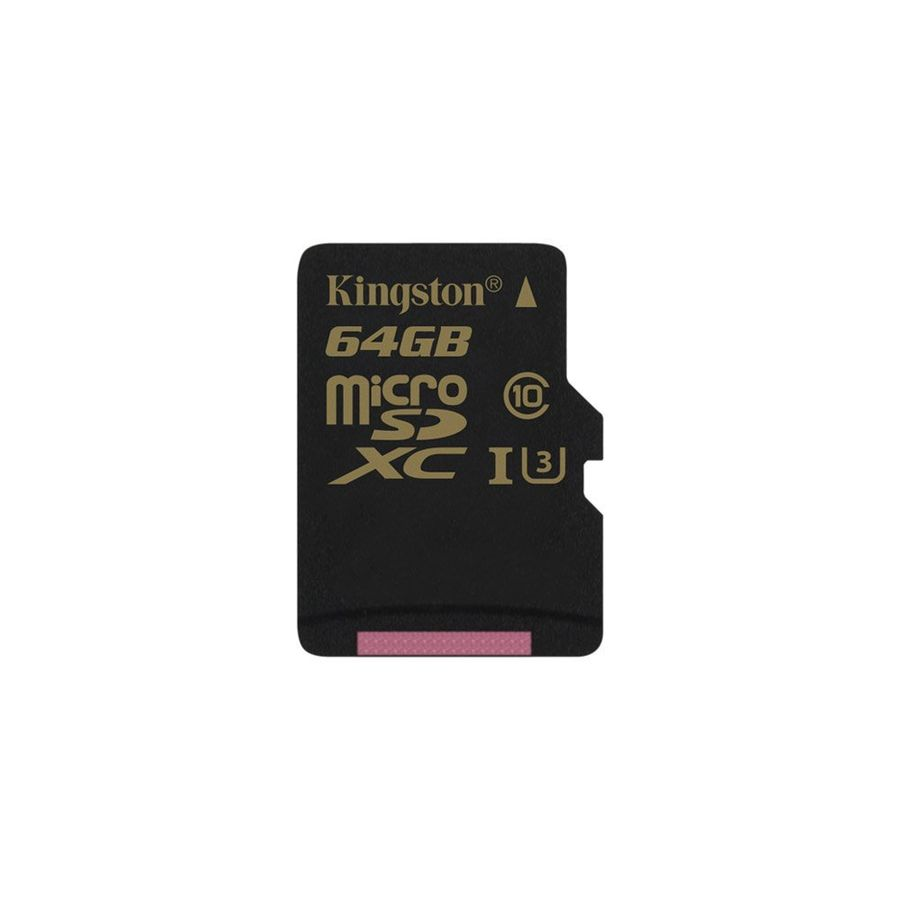 Карта памяти microSDXC UHS-I U3 KINGSTON 64 ГБ, 90 МБ/с, Class 10, SDCG/64GBSP,  1 шт.