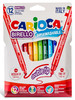Фломастеры Carioca BIRELLO 42753 двусторонние 12цв. блистер картонный вид 1