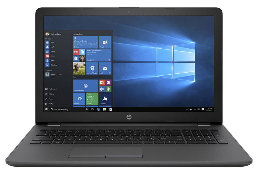 "Ноутбук HP 250 G6, 15.6"", Intel  Core i7  7500U 2.7ГГц, 4Гб, 1000Гб, Intel HD Graphics  620, DVD-RW, Windows 10 Professional, 1XN67EA,  темно-серебристый"