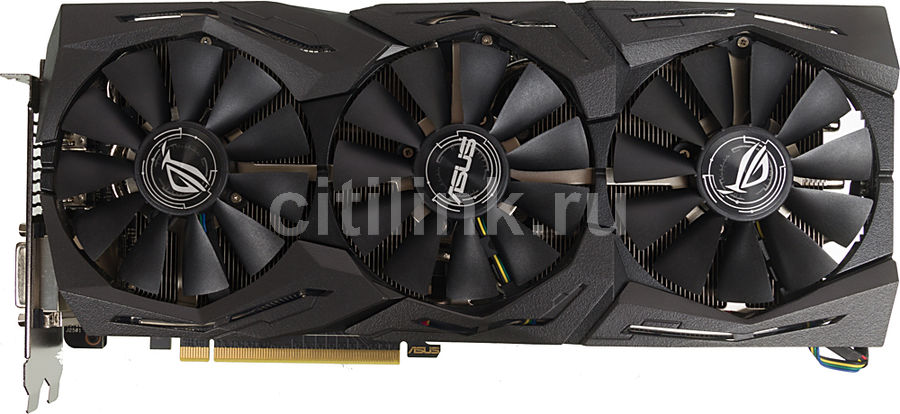 Видеокарта ASUS AMD  Radeon RX 580 ,  ROG-STRIX-RX580-T8G-GAMING,  8Гб, GDDR5, OC,  Ret