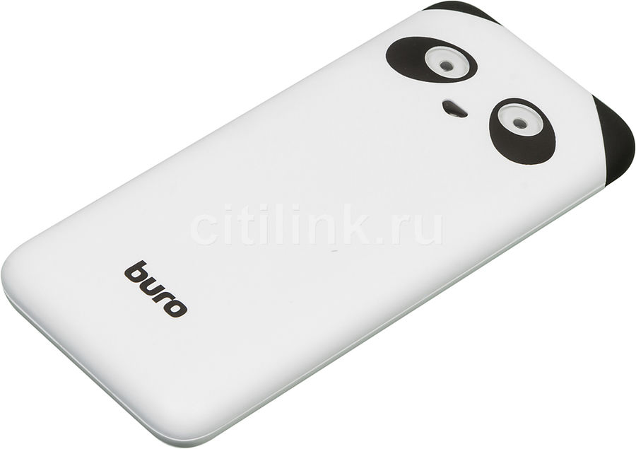 Внешний аккумулятор BURO RA-10000PD-WT Panda,  10000мAч,  белый