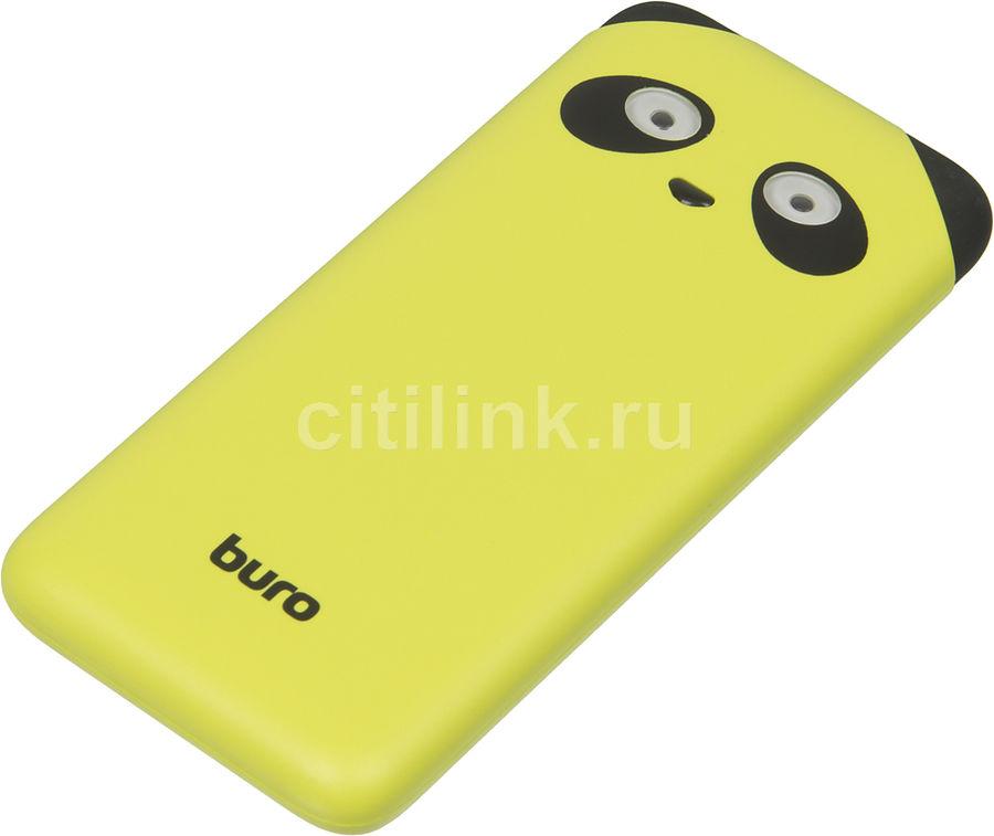 Внешний аккумулятор (Power Bank) BURO RA-10000PD-GN Panda,  10000мAч,  лайм