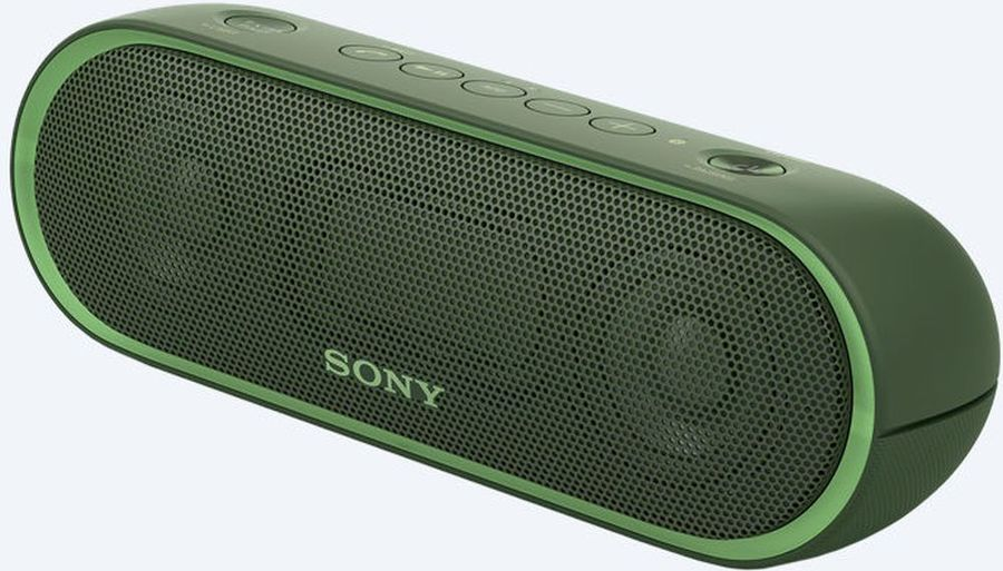 Портативная колонка SONY SRS-XB20,  25Вт, зеленый  [srsxb20g.ru2]