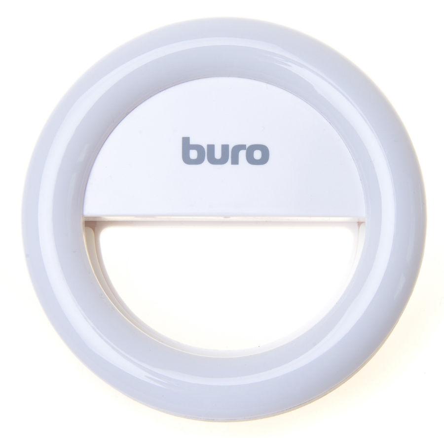 Вспышка для селфи BURO RK-14-WT,  для планшетов и смартфонов,  белый