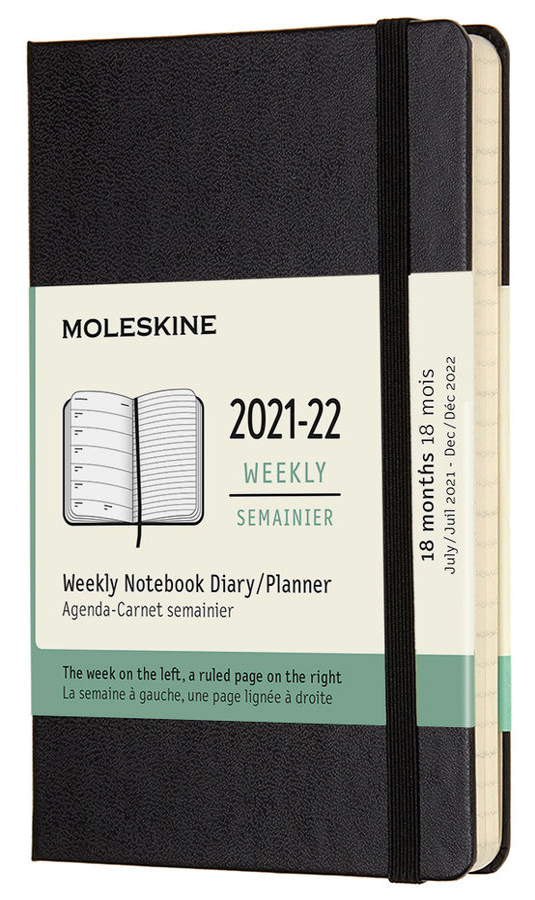 Еженедельник MOLESKINE Academic WKNT,  датированный на 18 месяцев,  208стр.,  черный [dhb18wn2]