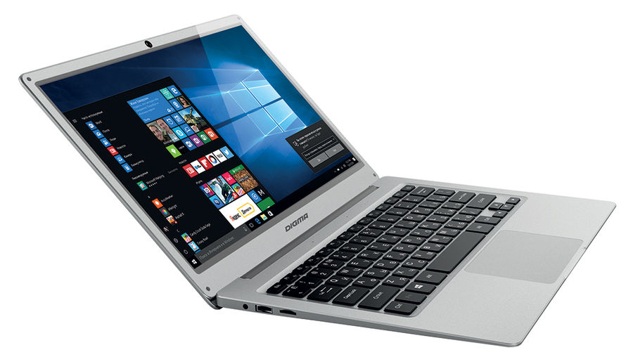 Ноутбук DIGMA EVE 300, 13.3, Intel Atom X5 Z8350 1.44ГГц, 2Гб, 32Гб SSD, Intel HD Graphics 400, Windows 10 Home, ES3004EW, серебристый ноутбук digma citi e210 11 6 intel atom x5 z8350 1 44ггц 2гб 32гб ssd intel hd graphics 400 windows 10 home et2005ew черный