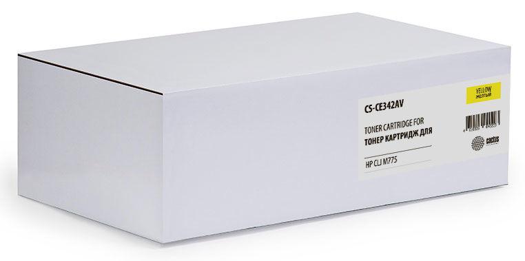 Картридж CACTUS CS-CE342AV желтый