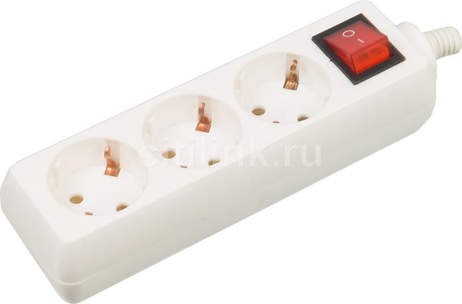 Сетевой удлинитель BURO BU-PS3.1/W, 1.5м, белый