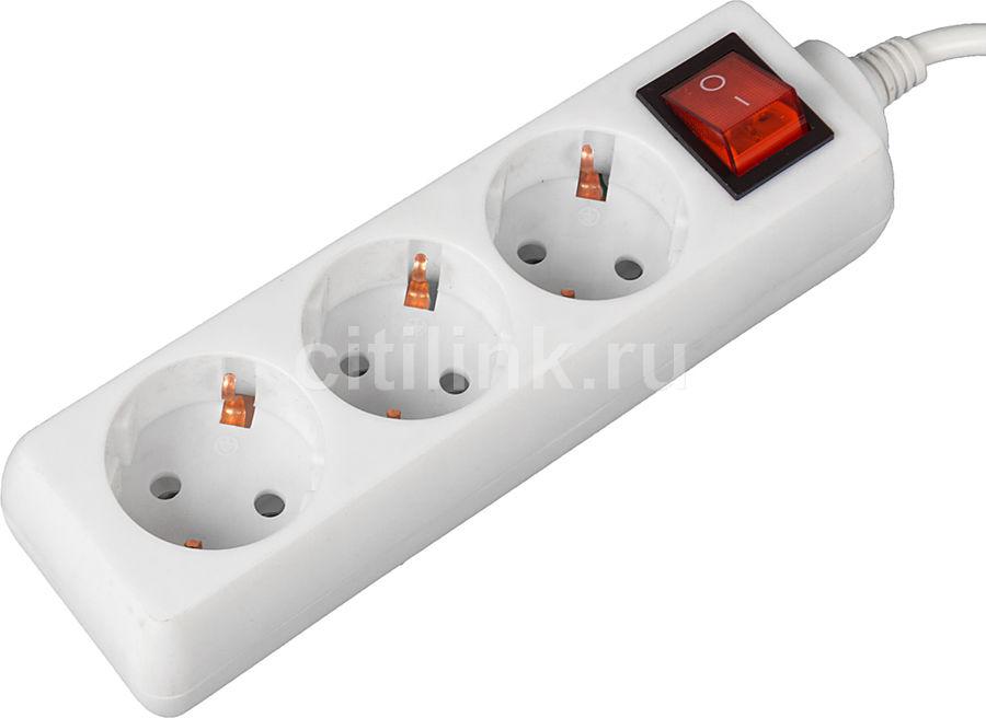 Сетевой удлинитель BURO BU-PS3.3/W, 3м, белый