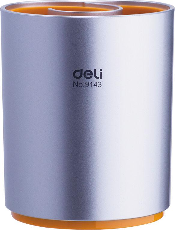 Подставка Deli E9143 Quali для пишущих принадлежностей d=90мм 109мм ассорти/серый пластик