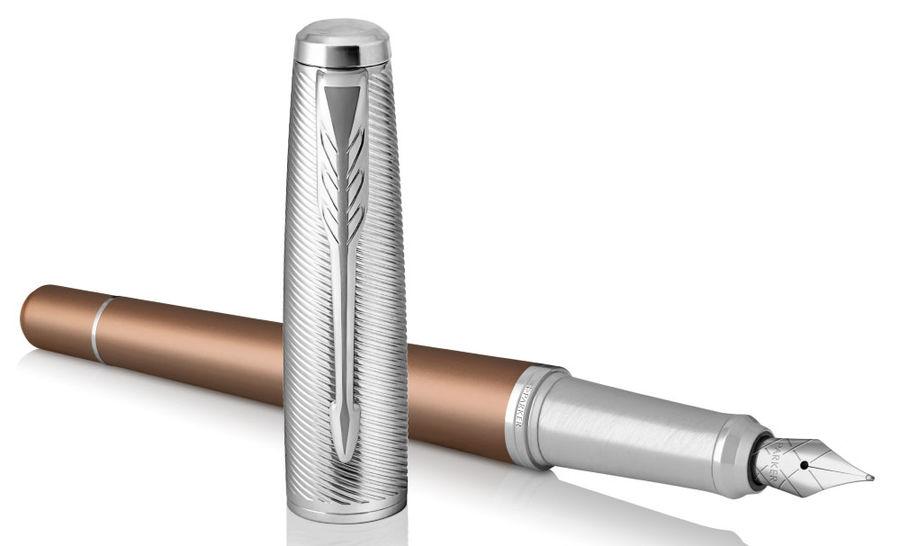 Ручка перьевая Parker Urban Premium F311 (1931625) Orange CT F сталь нержавеющая подар.кор.