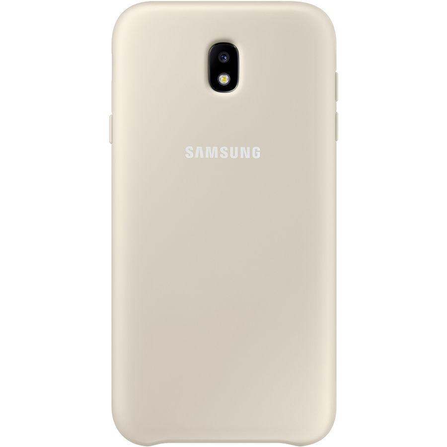 Чехол (клип-кейс) SAMSUNG Dual Layer Cover, для Samsung Galaxy J7 (2017), золотистый [ef-pj730cfegru]