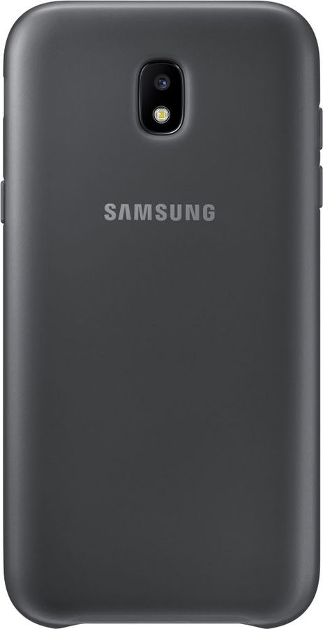 Чехол (клип-кейс) SAMSUNG Dual Layer Cover, для Samsung Galaxy J5 (2017), черный [ef-pj530cbegru] чехол samsung ef pj530cpegru для samsung galaxy j5 2017 dual layer cover розовый
