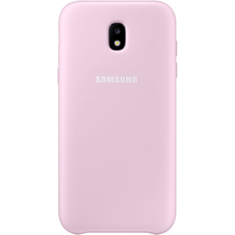 Чехол (клип-кейс) SAMSUNG Dual Layer Cover, для Samsung Galaxy J5 (2017), розовый [ef-pj530cpegru] чехол samsung ef pj530cpegru для samsung galaxy j5 2017 dual layer cover розовый