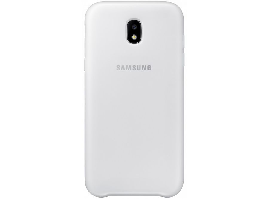Чехол (клип-кейс) SAMSUNG Dual Layer Cover, для Samsung Galaxy J5 (2017), белый [ef-pj530cwegru] чехол samsung ef pj530cpegru для samsung galaxy j5 2017 dual layer cover розовый